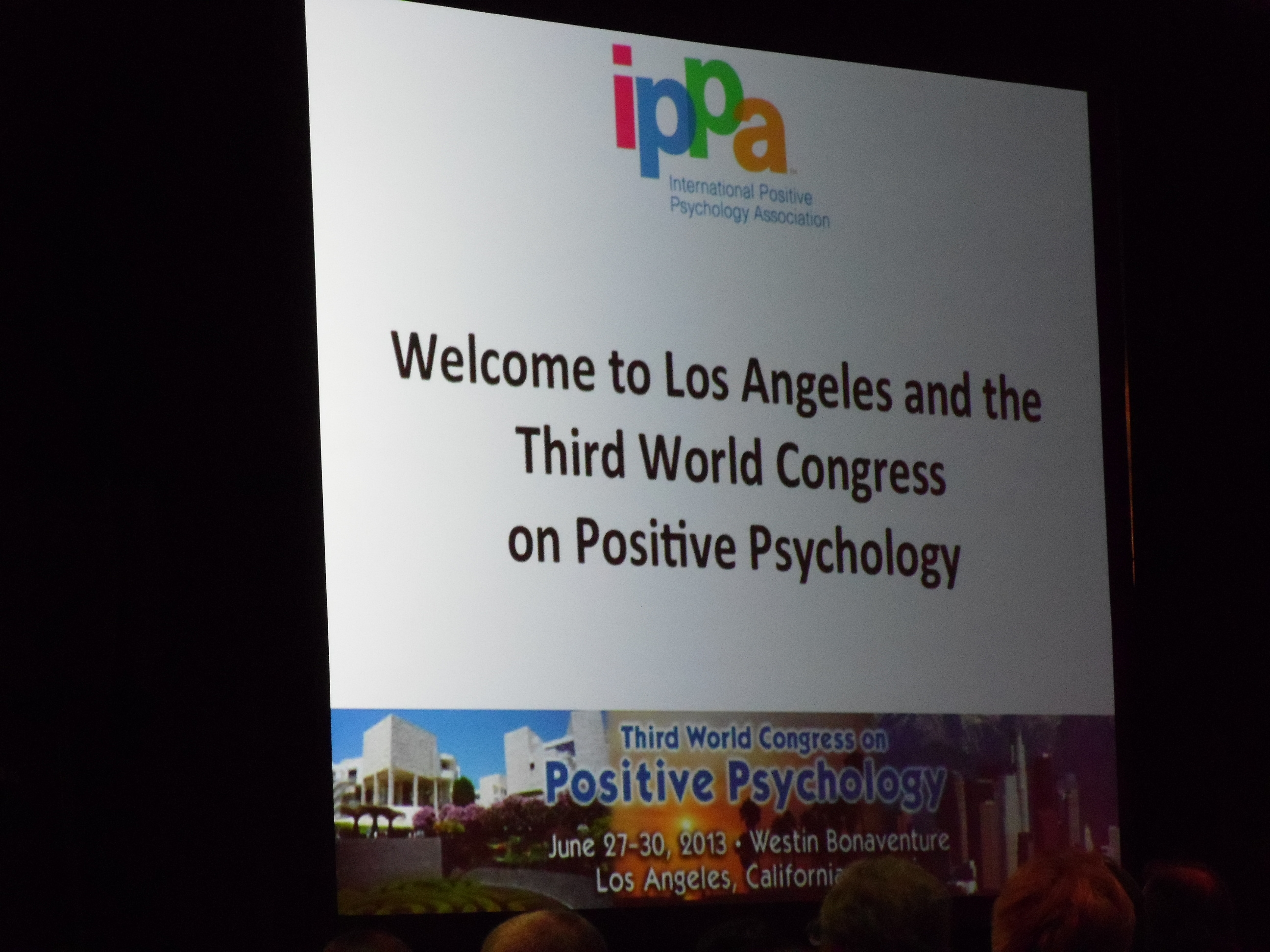 3rd World Congress on Positive Psychology